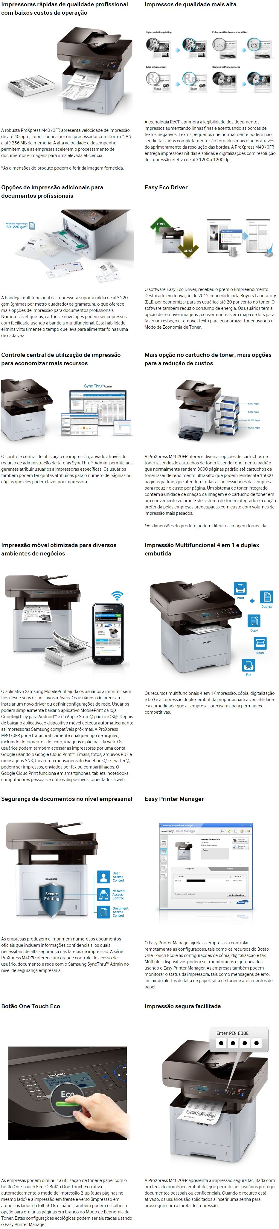 Na Megamamute você pode comprar online Impressora Multifuncional Samsung  ProXpress M4070FR Laser Mono 110V com até 13% off no boleto! b6b8444058