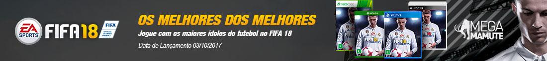 Pré-Venda FIFA 18, envio a partir do dia 03-10-2017